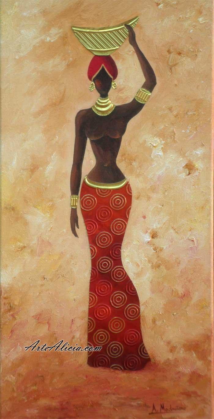 Cuadro mujer africana for Comprar cuadros al oleo