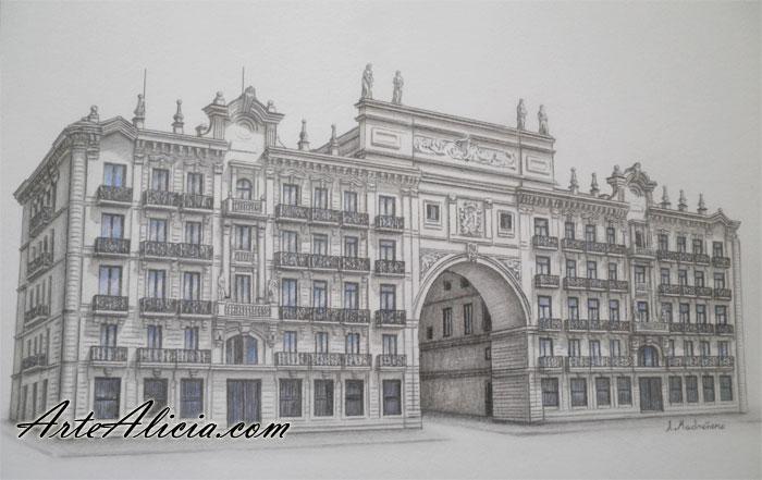 CUADRO Edificio Banco Santander